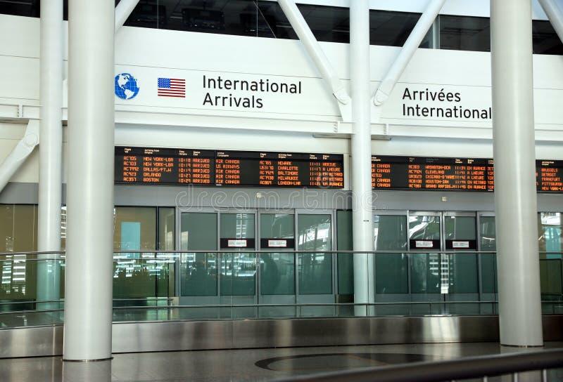 International Arrivals Editorial Stock Photo