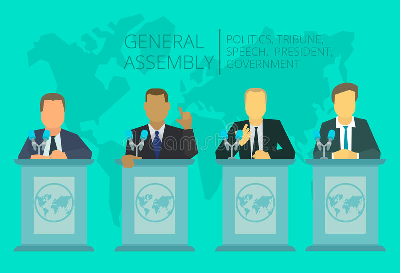 International Assembly, the policy of government royalty free illustration