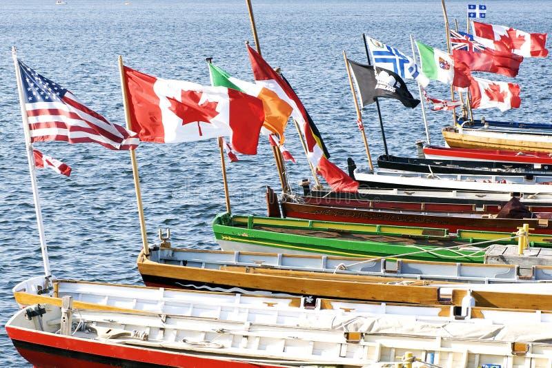 International atlántico del desafío - indicadores de la bandera imágenes de archivo libres de regalías