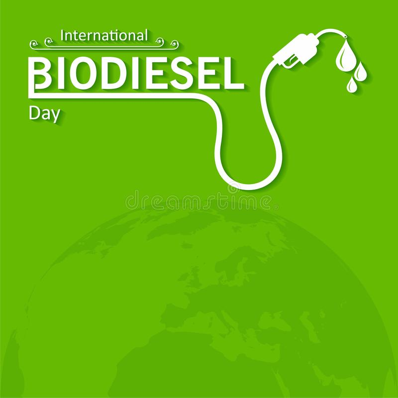 International Biodiesel Day Greeting for Eco Environment - 10 August royalty free stock photo