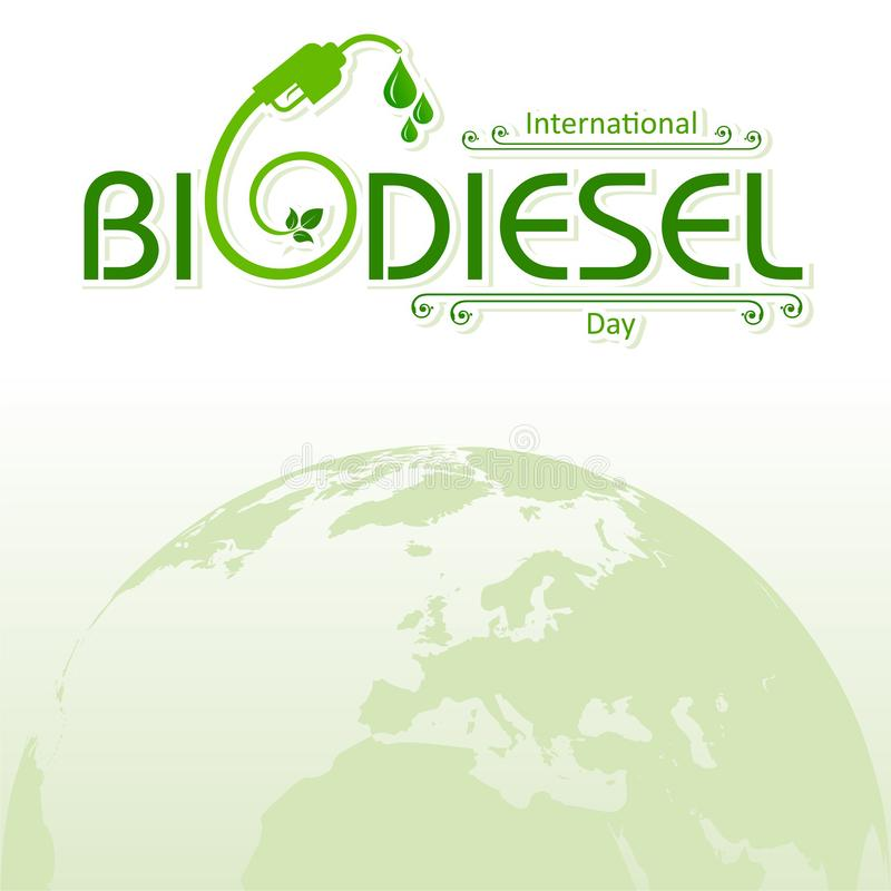 International Biodiesel Day Greeting for Eco Environment - 10 August royalty free stock image