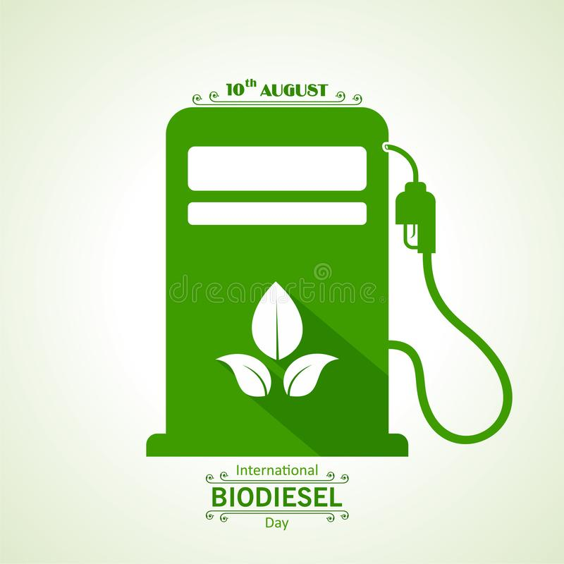 International Biodiesel Day Greeting for Eco Environment - 10 August stock image