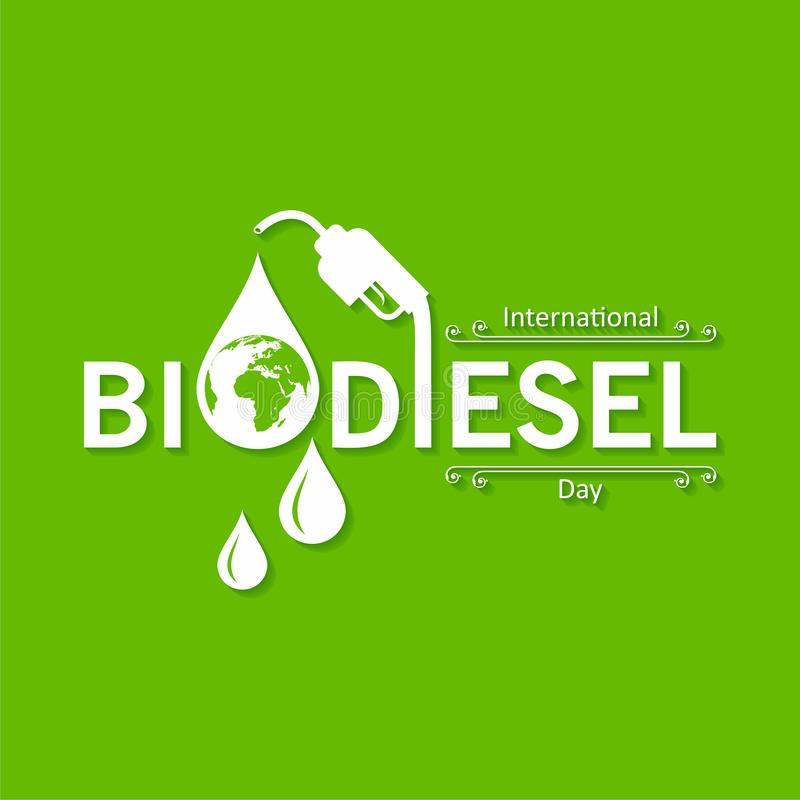 International Biodiesel Day Greeting for Eco Environment - 10 August stock photo