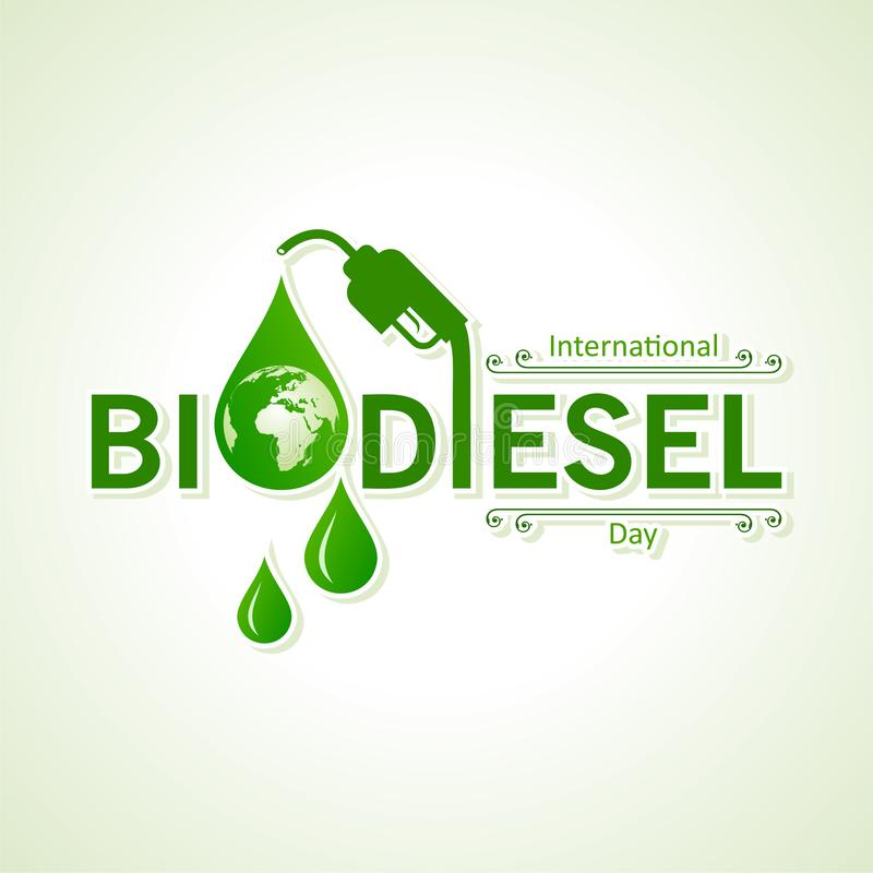 International Biodiesel Day Greeting for Eco Environment - 10 August royalty free stock photos