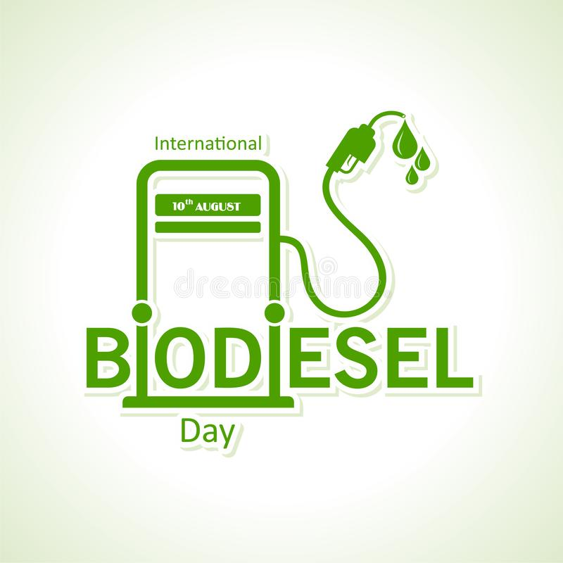 International Biodiesel Day Greeting for Eco Environment - 10 August royalty free stock images