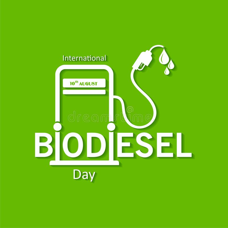 International Biodiesel Day Greeting for Eco Environment - 10 August stock images