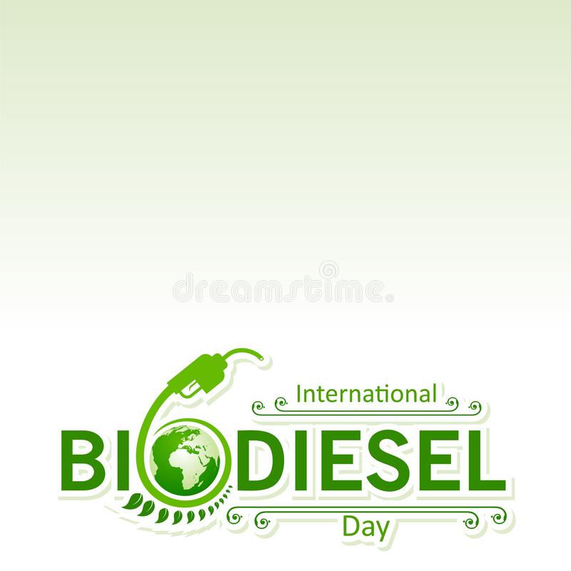 International Biodiesel Day Greeting for Eco Environment - 10 August royalty free stock photography