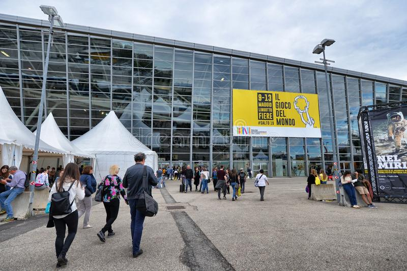 International book fair is the main cultural event of the season. Turin Italy May 10 2019 royalty free stock photography