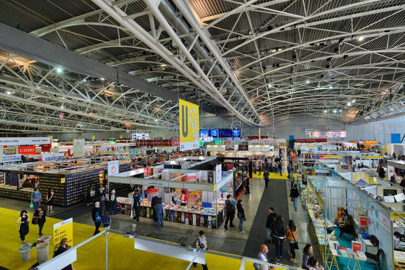 International book fair is the main cultural event of the season. Turin Italy May 10 2019 stock photo