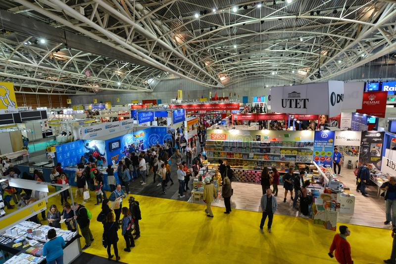 International book fair is the main cultural event of the season. Turin Italy May 10 2019 royalty free stock image