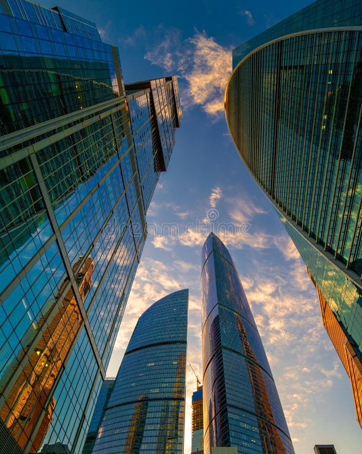 International business center Moscow city stock photos