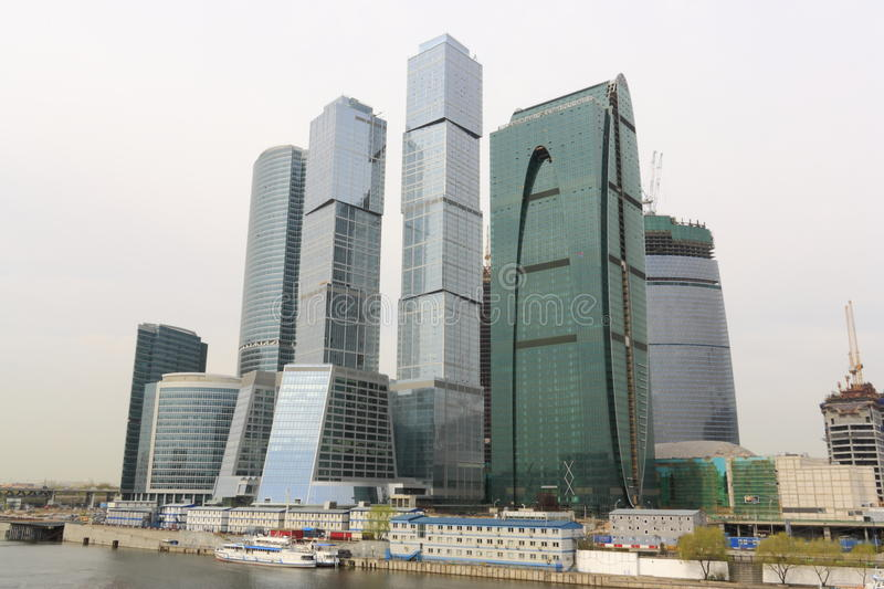 The international business centre of Moscow - City royalty free stock photos