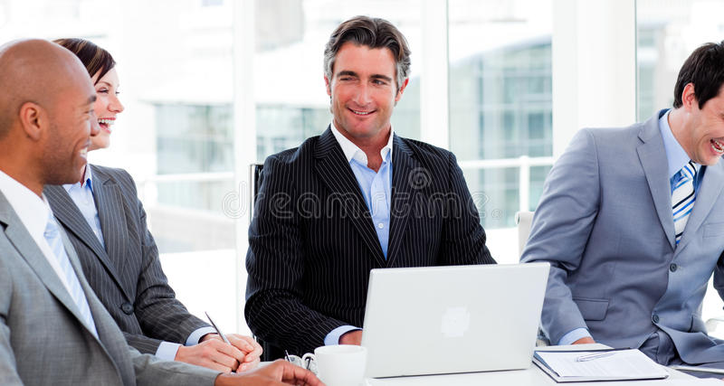 Download International Business Group Discussing Stock Image - Image: 12025417