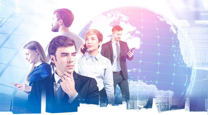 International business team in global world stock image