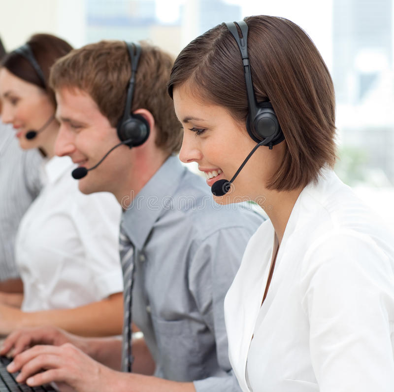 Download International Business Team With Headset On Stock Photo - Image: 12191498