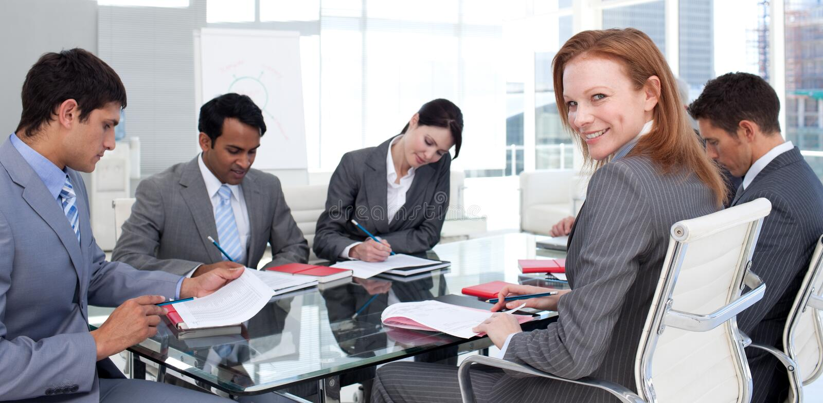 International Business Team In A Meeting Royalty Free Stock Photo
