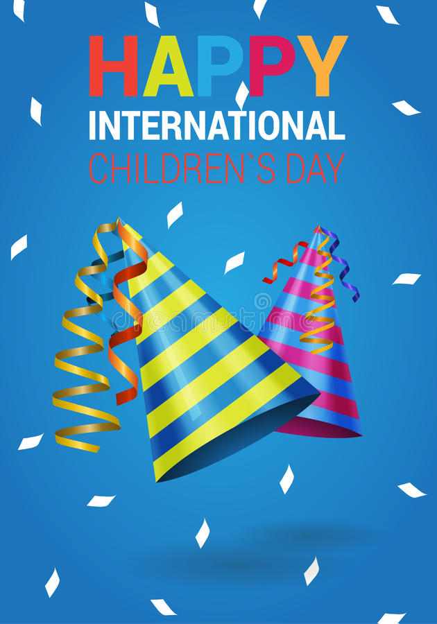 International children`s day vector stock illustration