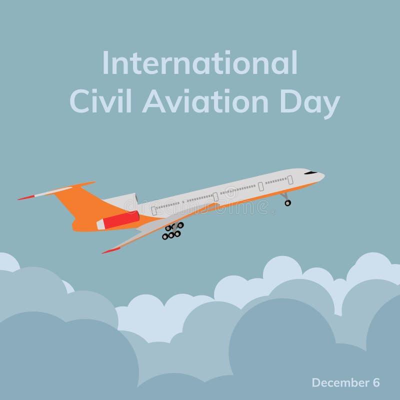 International civil aviation day. stock photo