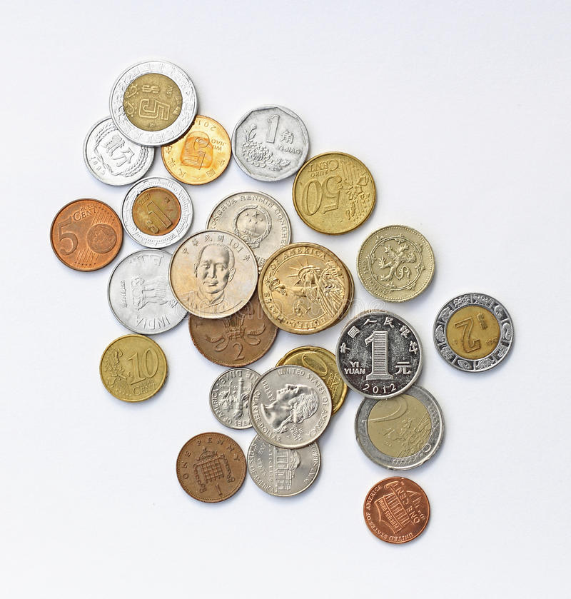 International Coins stock images