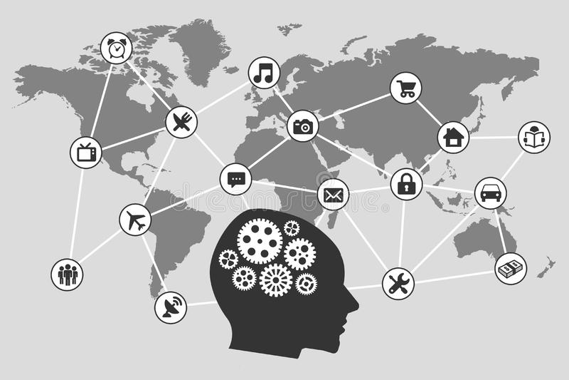 International communications worldwide vector illustration