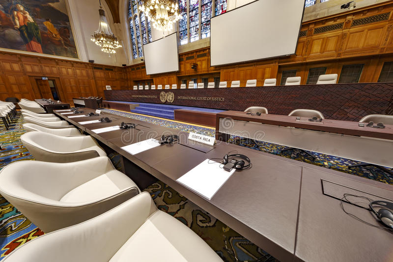 International Court of Justice Courtroom stock photography