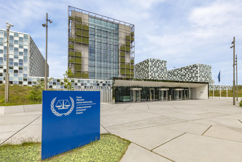 International Criminal Court Premise. New premise of the International Criminal Court at The Hague, Netherlands stock photos