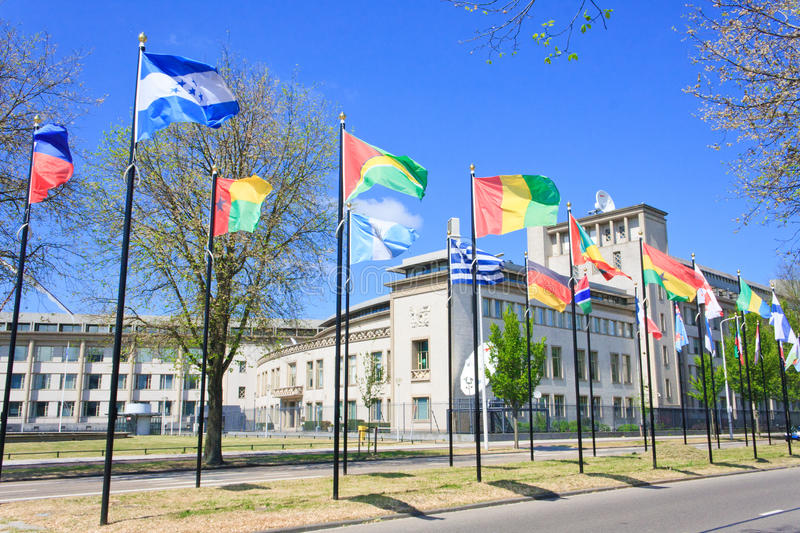 International Criminal Tribunal Yugoslavia ICTY. Building of the International Criminal Tribunal for the former Yugoslavia in The Hague, Netherlands or ICTY royalty free stock photos
