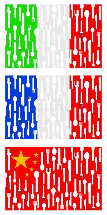 Download International cuisine stock illustration. Image of flags - 23158871