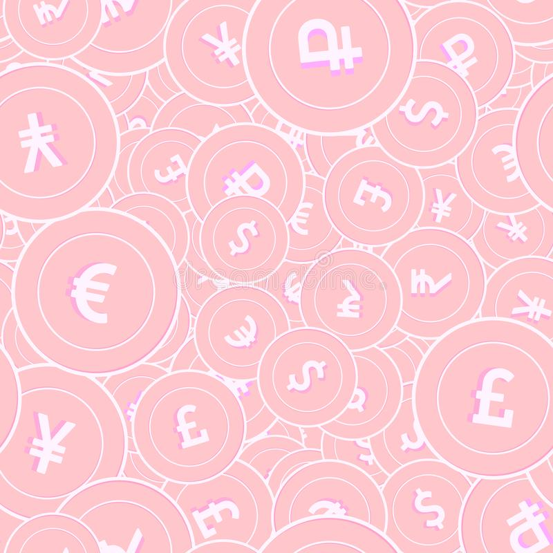 Free International Currencies Copper Coins Seamless Pat Royalty Free Stock Image - 153685996