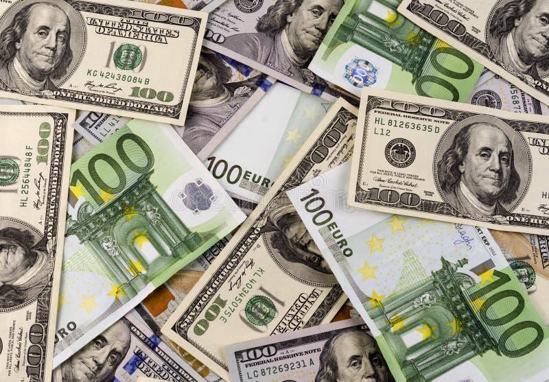 International currencies. euro vs dollar.  stock photography
