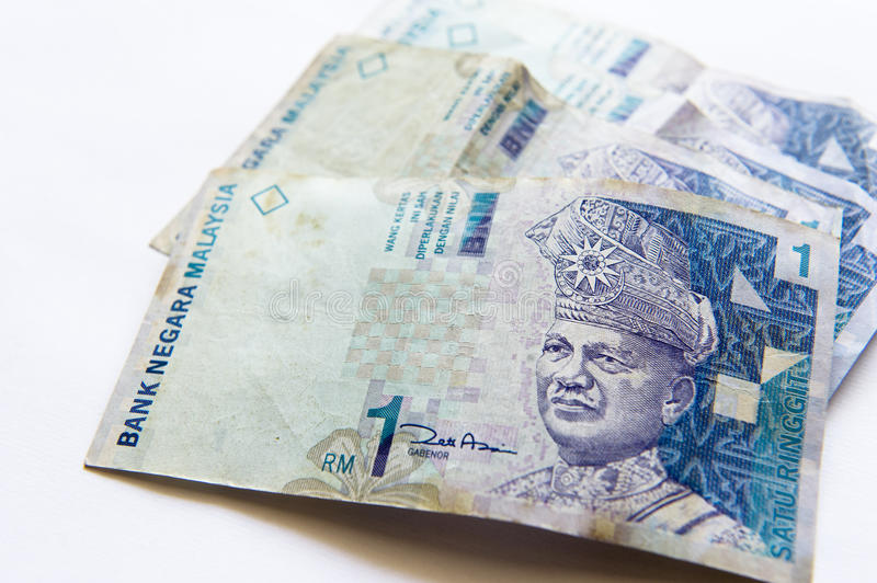 International Currency, Ringgit. stock image