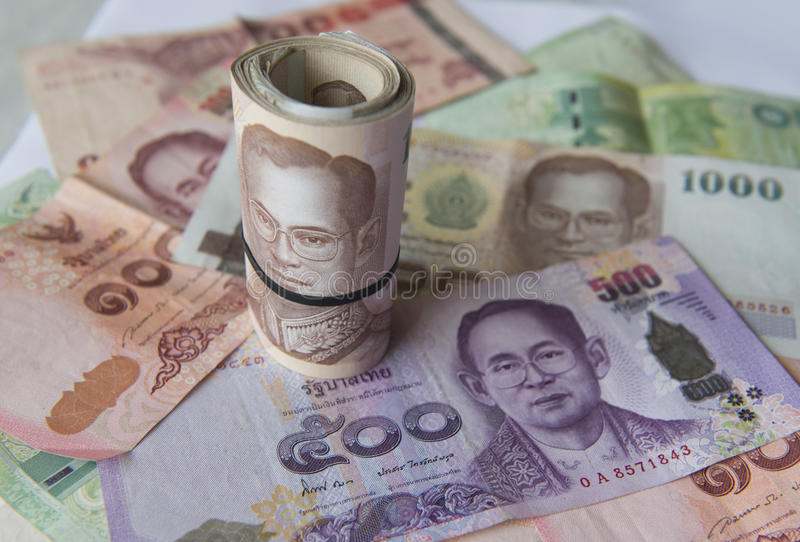 International Currency, Thai baht. stock photography
