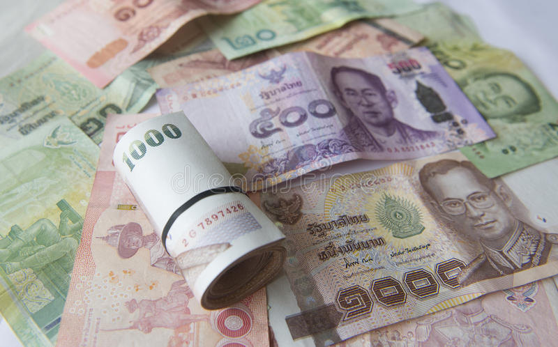 International Currency, Thai baht. stock image