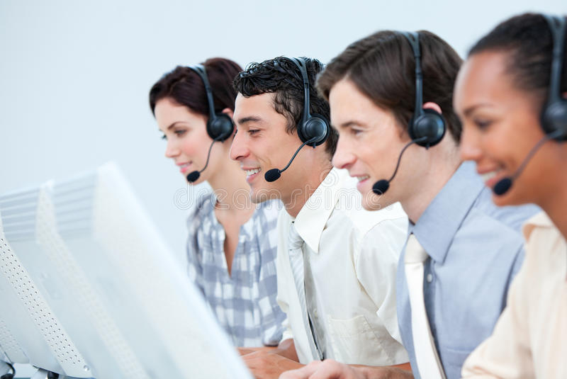 International customer service representatives stock photo