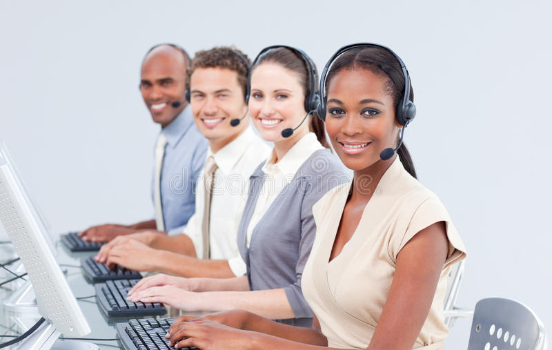 International Customer Service Representatives Stock Image