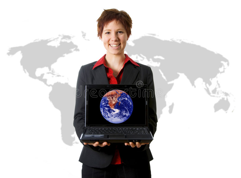 International da mulher de negócio imagem de stock