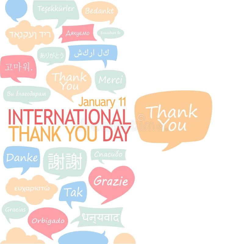 International danken Ihnen Tag lizenzfreie abbildung