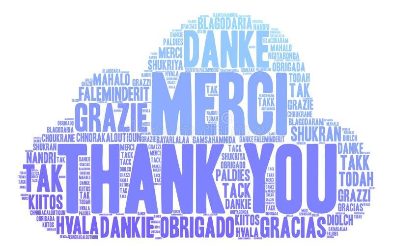International danken Ihnen, Wolke abzufassen lizenzfreie abbildung