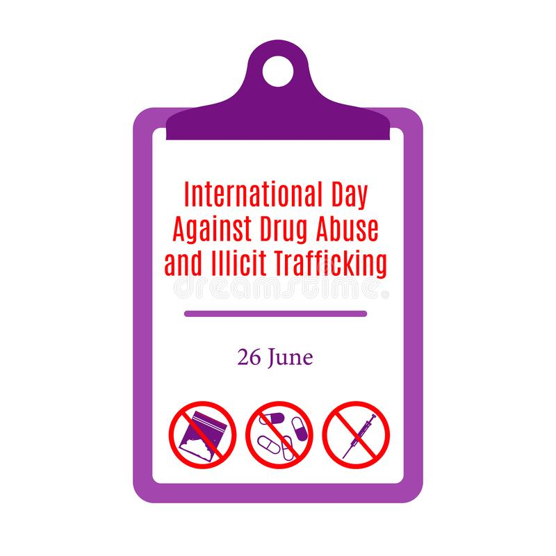 International Day against Drug Abuse and Illicit Trafficking royalty free illustration