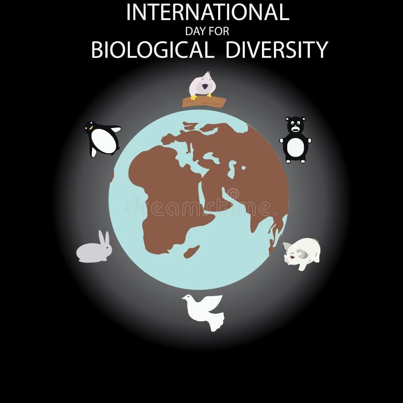 International Day for Biological Diversity stock illustration