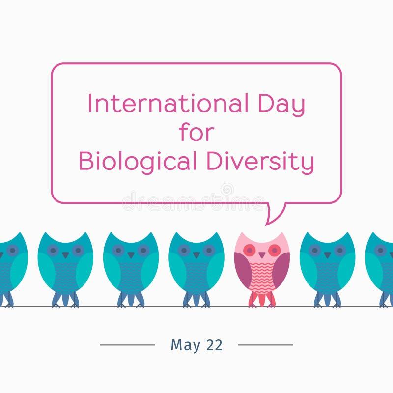 International Day for Biological Diversity vector illustration
