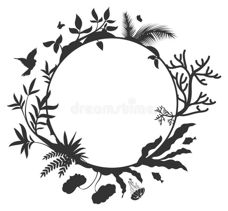 International Day for Biological Diversity round frame elements nature stock illustration