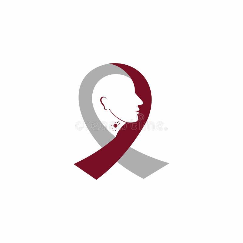 Cancer care logo design template. International Day of Breast Cancer Awareness - vector design. Hope for a cure. Pink ribbon sign. Design elements royalty free illustration