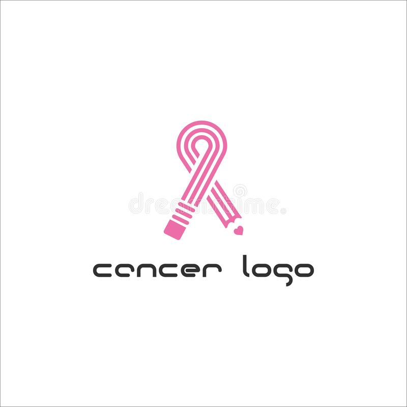 Cancer care logo design template. International Day of Breast Cancer Awareness - vector design. Hope for a cure. Pink ribbon sign. Design elements royalty free illustration