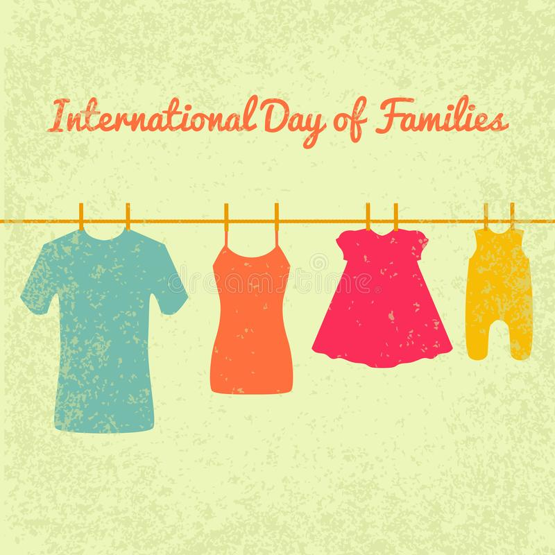 International Day of Families vector illustration
