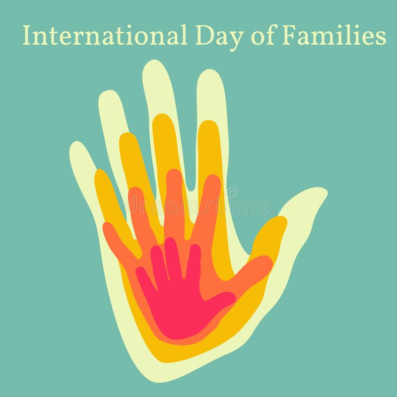 International Day of Families royalty free illustration