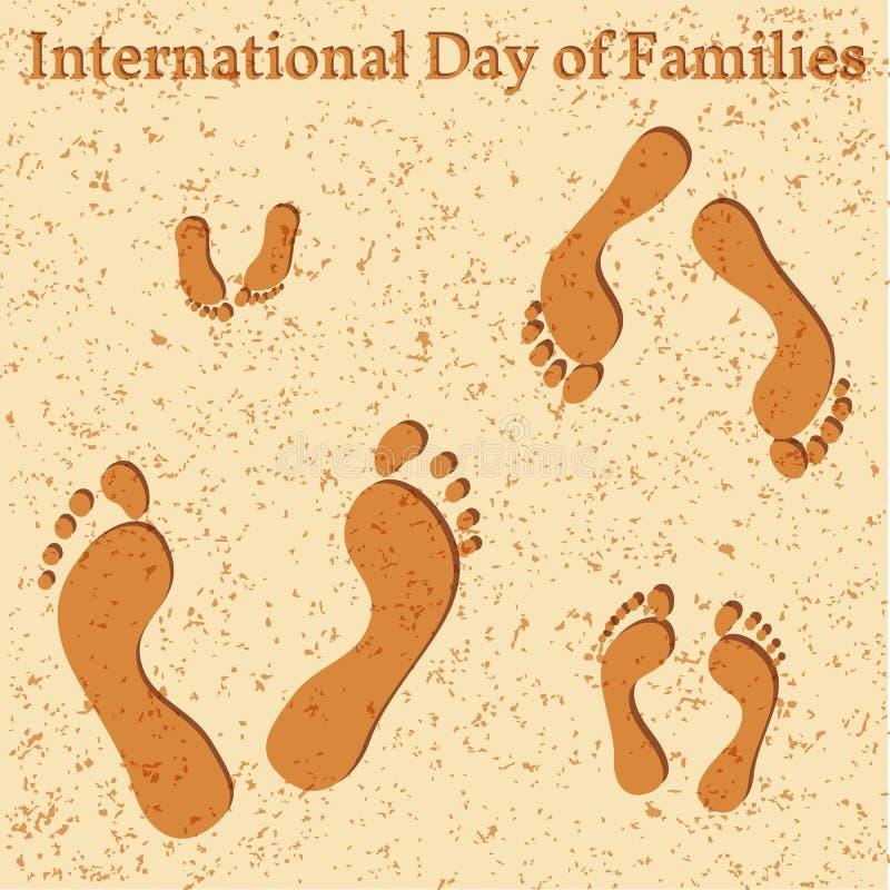 International Day of Families stock illustration