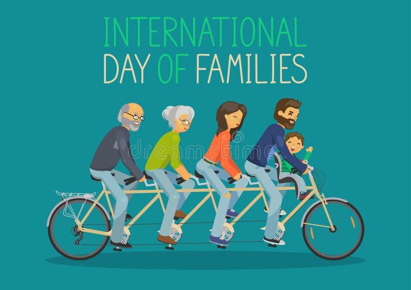 International day of families. stock illustration