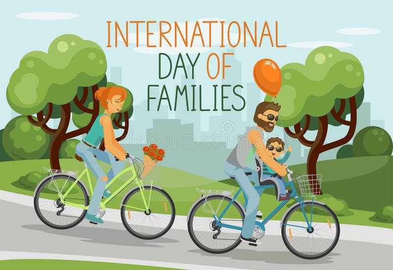 International day of families. stock illustration