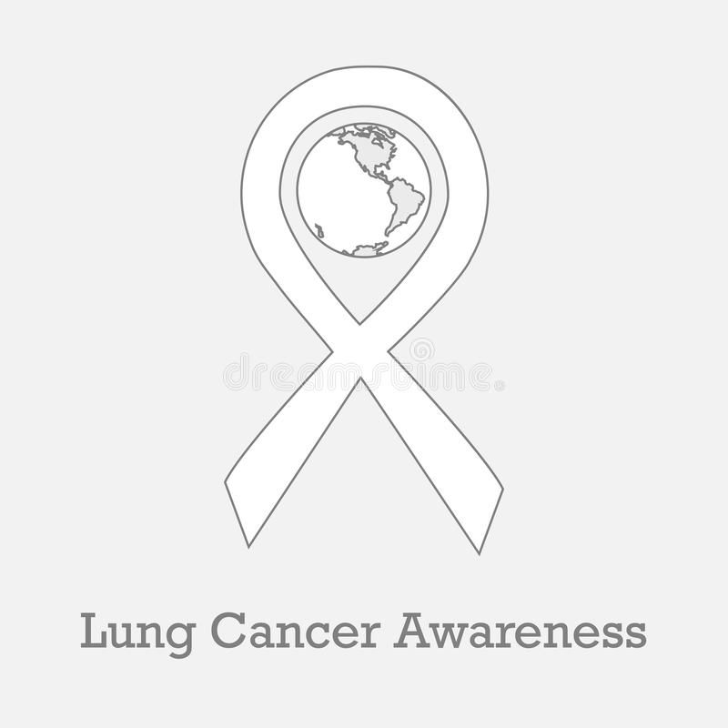 International Day Of Lung Cancer Awareness Stock Vector